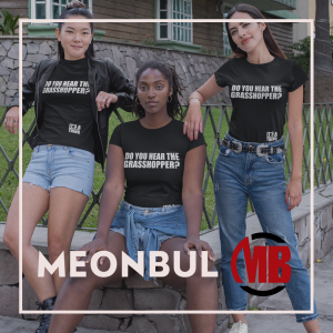 Three women wearing Meon Bul Shirts